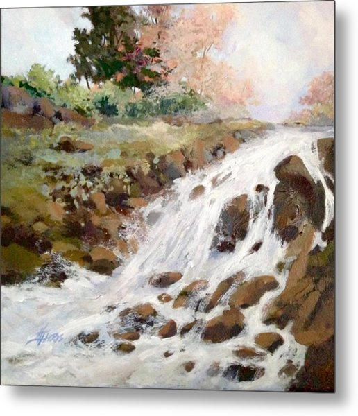 Metal Print featuring the painting Spring's Promise by Helen Harris