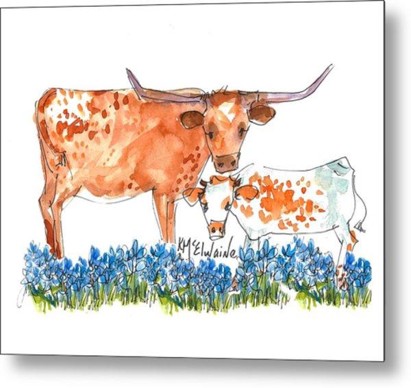 Springs Surprise Watercolor Painting By Kmcelwaine Metal Print