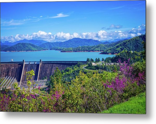 Springtime At Shasta Lake Dam Metal Print