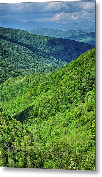 Metal Print featuring the photograph Springtime In The Blue Ridge Mountains by Alex Grichenko