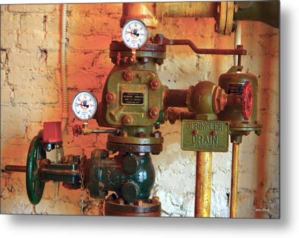 A Spinkle In Time Sprinkler Guages Metal Print