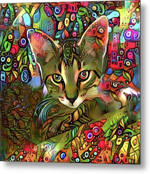 Sprocket The Tabby Kitten Metal Print