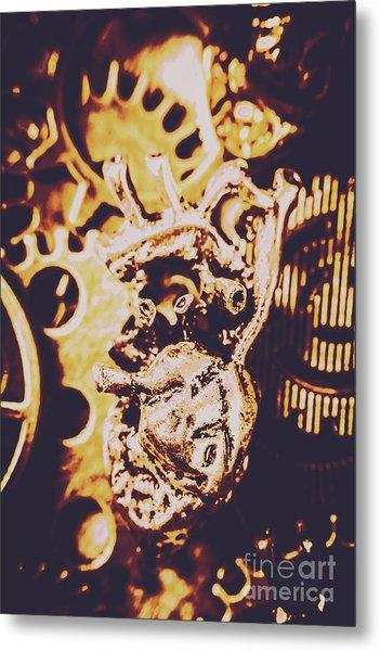 Sprockets And Clockwork Hearts Metal Print