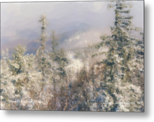 Spruce Peak Summit At Sunday River Metal Print