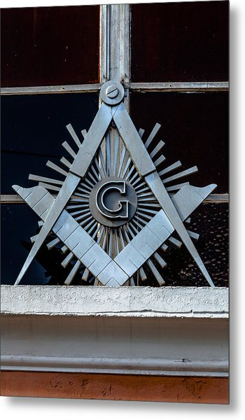 Square And Compass Metal Print