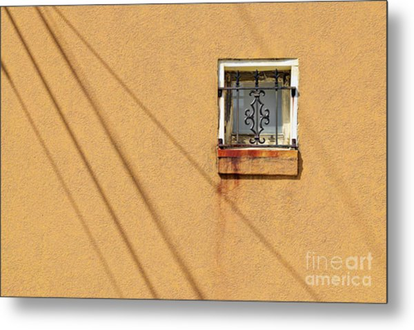 Square Window Metal Print