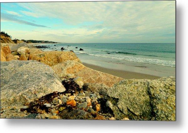 Squibby Cliffs And Mackerel Sky Metal Print