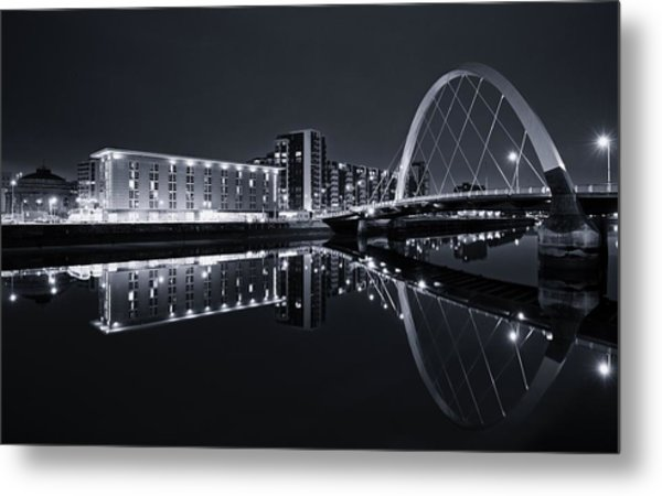 Squinty Bridge Glasgow Metal Print