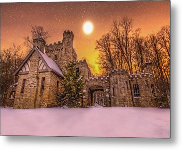 Squires Castle In The Winter Metal Print