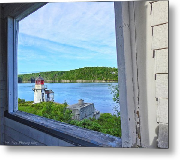 Squirrel Point View From The Deck Metal Print