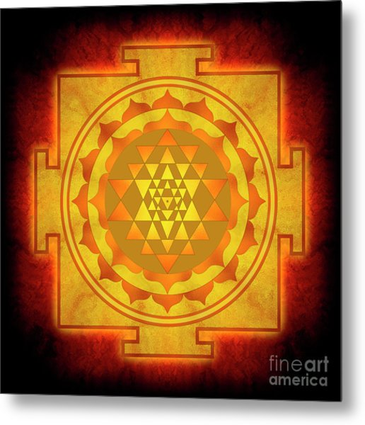 Sri Yantra - No. 1 Metal Print