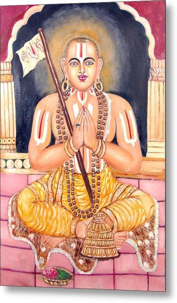 Srimadh Ramanujar Metal Print by Sankaranarayanan