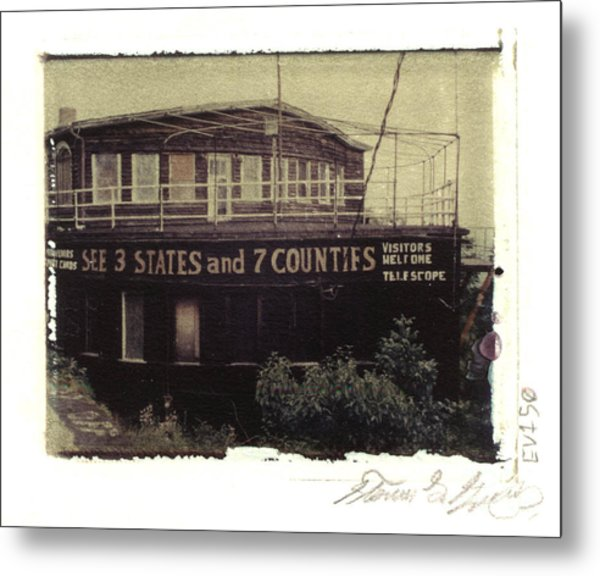 S.s. Grand View Hotel...ship Of The Alleghenies Prow Metal Print by Steven  Godfrey