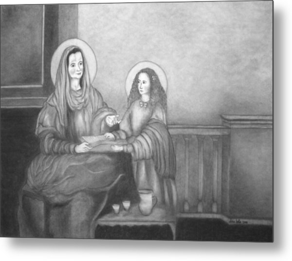 St. Anne And Bvm Metal Print