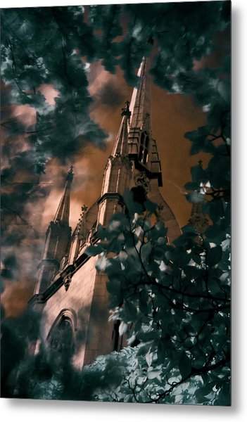 Metal Print featuring the photograph St Dunstan In The East Tower by Helga Novelli