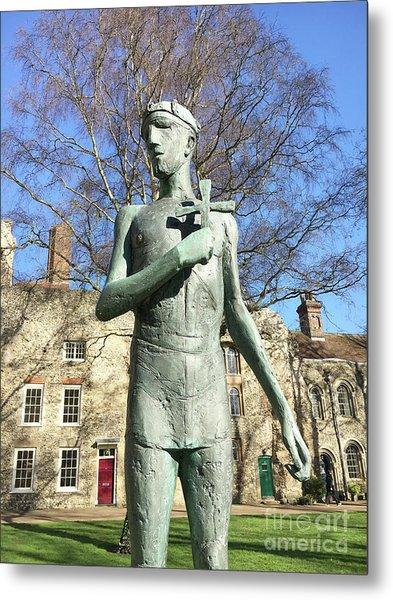 St Edmunds Statue Metal Print