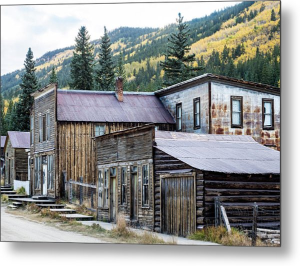 Metal Print featuring the photograph St. Elmo A Colorado Ghost Town by Nadja Rider