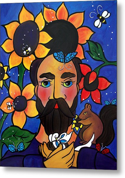 St. Francis - All Creatures Great And Small Metal Print