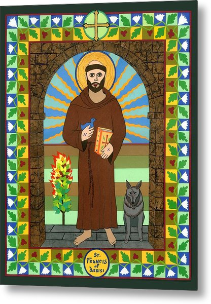 St. Francis Of Assisi Icon Metal Print by David Raber