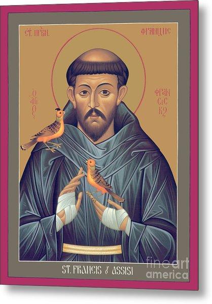St. Francis Of Assisi - Rlfob Metal Print