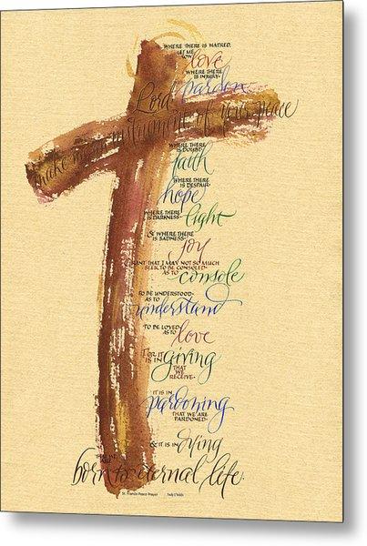 St Francis Peace Prayer  Metal Print