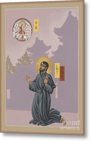 St Francis Xavier Adoring Jesus The Mother Pelican 164 Metal Print
