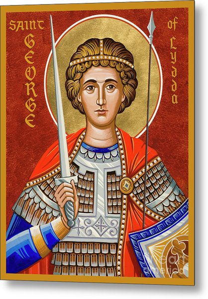 St. George Of Lydda - Jcgly Metal Print