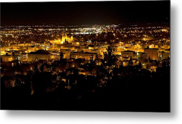 St Helena Cathedral And Helena By Night Metal Print