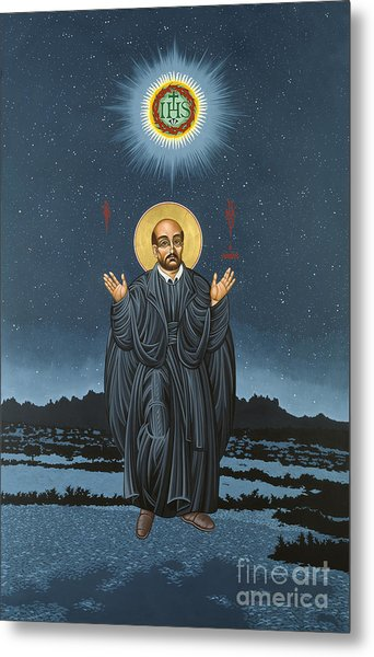 St. Ignatius In Prayer Beneath The Stars 137 Metal Print
