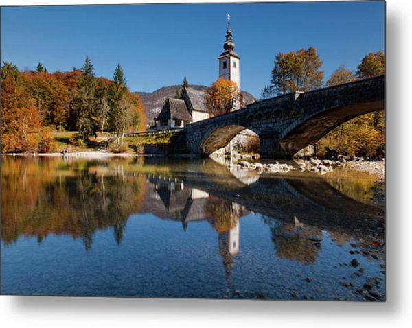 St. John The Baptist On The Lake Bohinj Metal Print