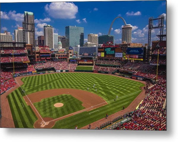 St. Louis Cardinals Busch Stadium Creative 16 Metal Print