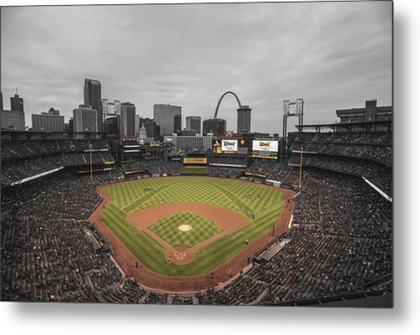 St. Louis Cardinals Busch Stadium Creative 17 Metal Print