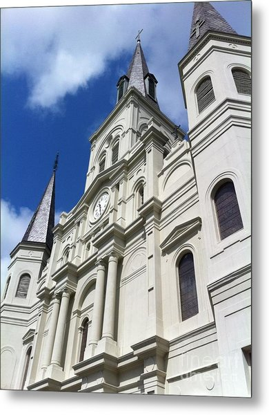 St. Louis Cathedral In The Afternoon Metal Print by John Giardina