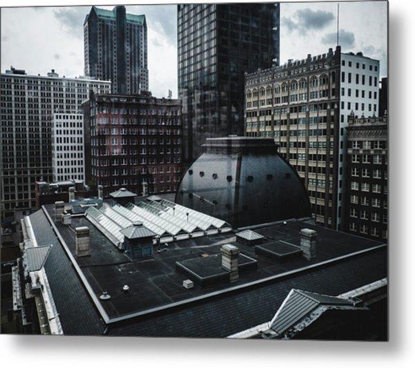 St. Louis Cityscape Through Window Metal Print by Dylan Murphy