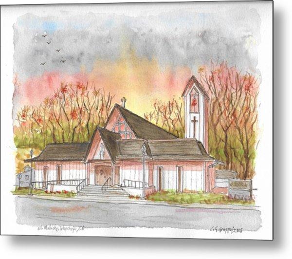 St. Malachy Church, Tehachapi, California Metal Print