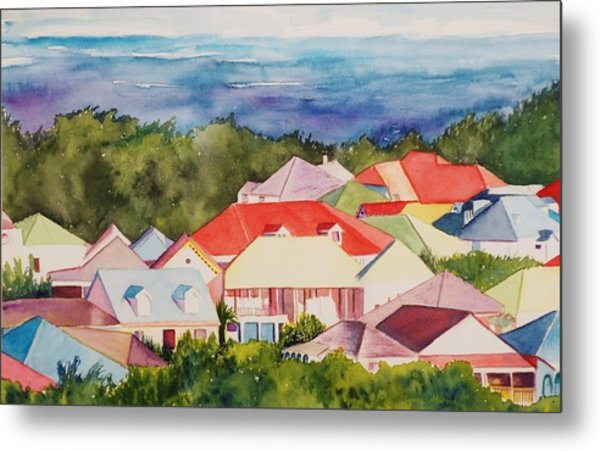 St. Martin Rooftops Metal Print