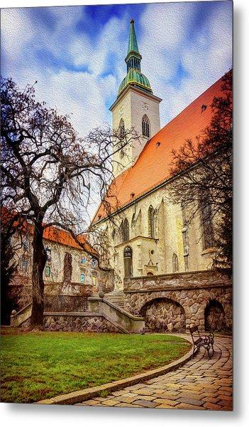 St Martins Cathedral Bratislava Metal Print