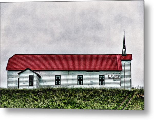 St. Mary Church, Babb, Mt Metal Print