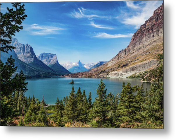Metal Print featuring the photograph St. Mary Lake, Glacier N.p. by Lon Dittrick