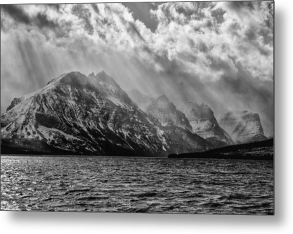 St Mary Storm, Glacier National Park  Metal Print