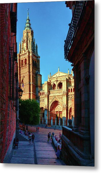 St Mary's Cathedral - Catholic Cathedral In Toledo, Chair Of The Primate Of Spain, The Main Cathedra Metal Print