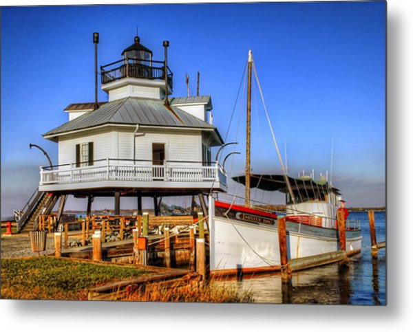 St Michaels Lighthouse Metal Print