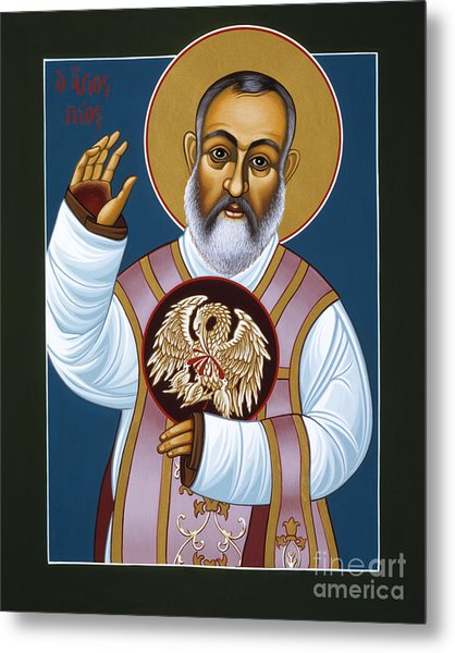 St Padre Pio Mother Pelican 047 Metal Print