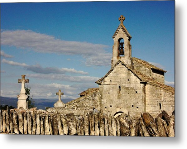 St. Pantaleon Church,  Luberon, France Metal Print