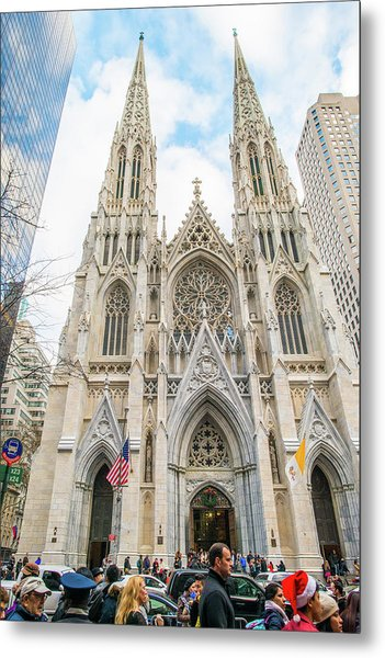 St. Patrick Cathedral In New York Metal Print