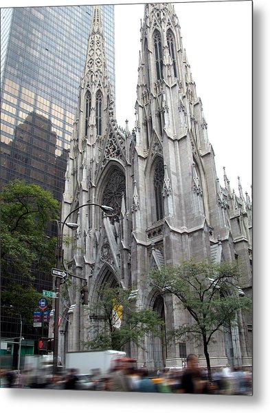 St Patrick's Cathedral - Manhattan Metal Print