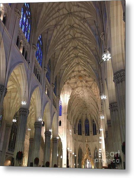St. Patricks Cathedral Main Interior Metal Print