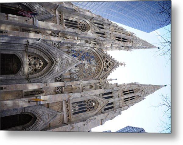 St Patrick's Cathedral Nyc Metal Print