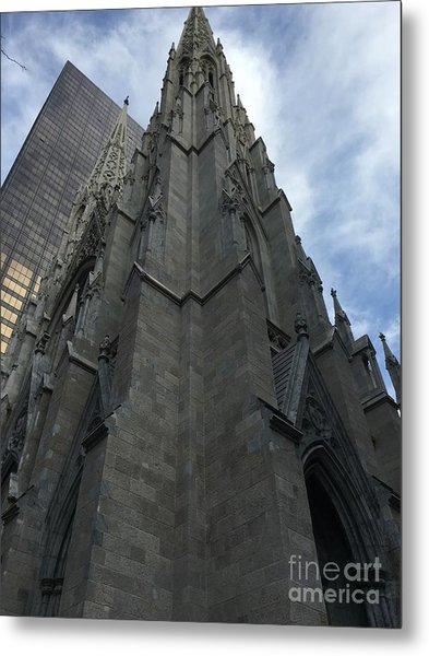 St. Patricks Cathedral Perspective Metal Print