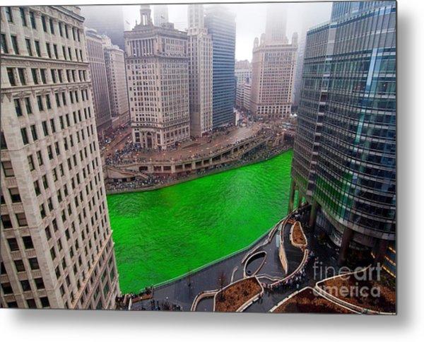 St Patrick's Day Chicago  Metal Print